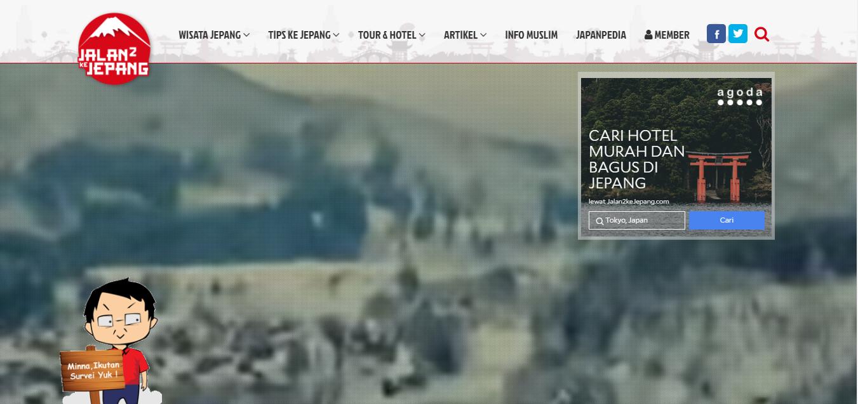 Website Jalan-Jalan ke Jepang